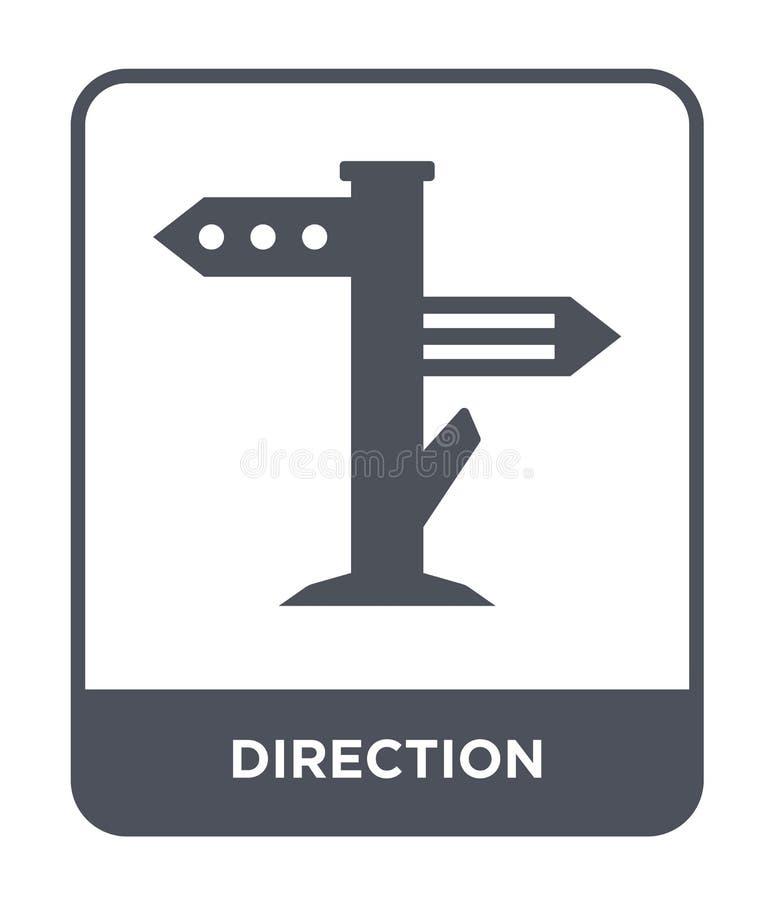 riktningssymbol i moderiktig designstil riktningssymbol som isoleras på vit bakgrund lägenhet för symbol för riktningsvektor enke vektor illustrationer