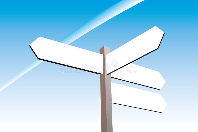 riktningstecken stock illustrationer