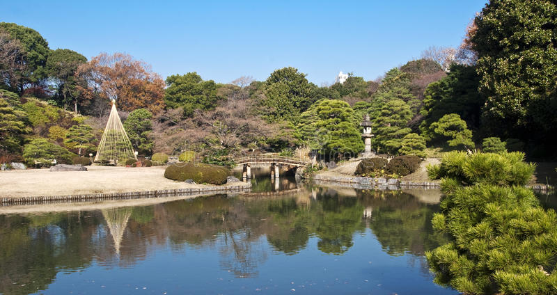 Rikugien-Garten, Tokyo, Japan lizenzfreies stockfoto