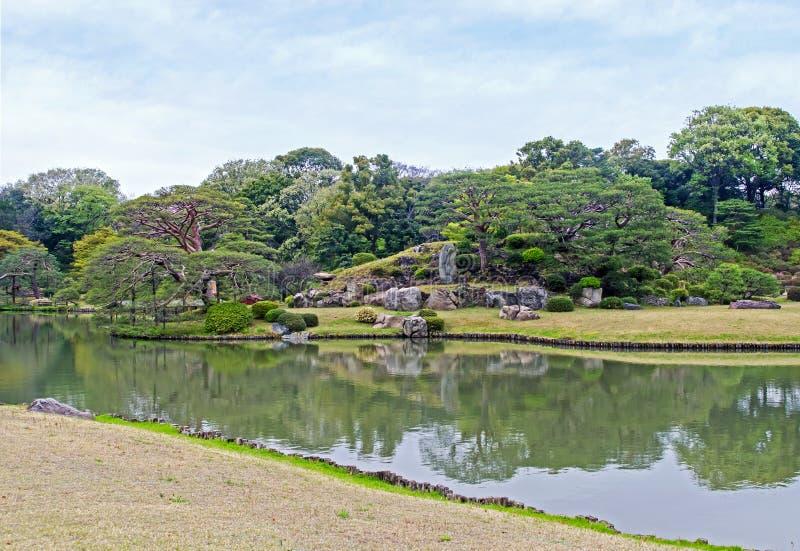 Rikugien trädgård av Tokyo fotografering för bildbyråer