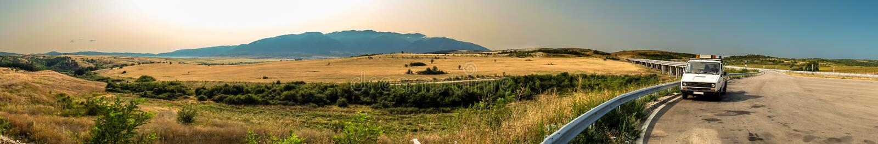 Rila山的全景视图 库存照片