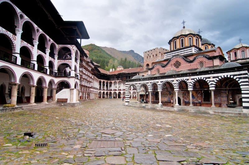 Rila Kloster in Bulgarien stockfotografie