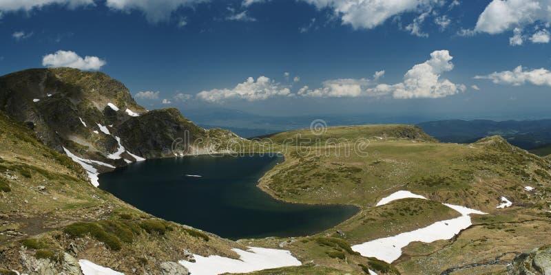 Rila lake. One Of The Seven Lakes of Rila mountain in bulgaria stock photos