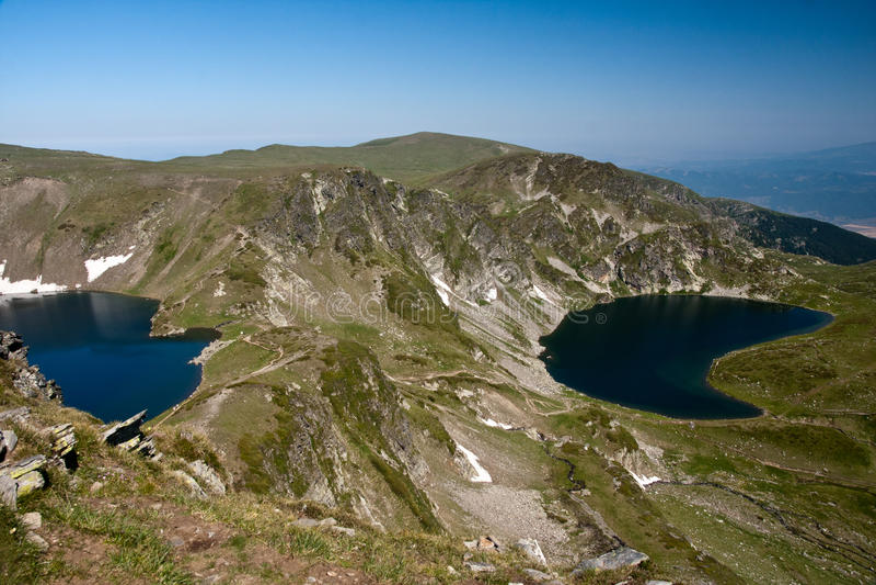 Rila lakes. National park the seven Rila lakes (Bulgaria royalty free stock images