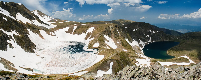 Rila lakes. Two Of The Seven Lakes of Rila mountain in bulgaria stock photos