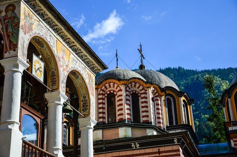 Rila Monastery, Bulgaria. In the autumn stock images