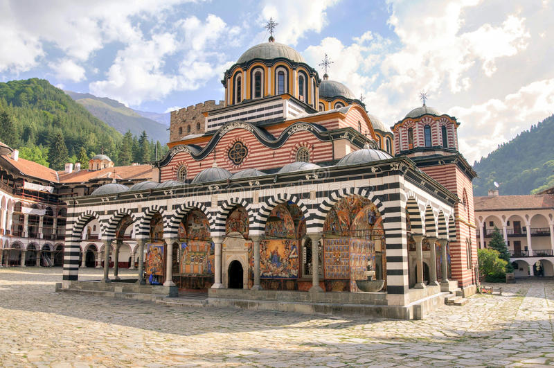 Rila monastery, Bulgaria. The Monastery of Saint Ivan of Rila or Rila Monastery is the largest and most famous Eastern Orthodox monastery in Bulgaria royalty free stock photography