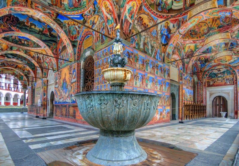Rila monastery holy fountain royalty free stock photography