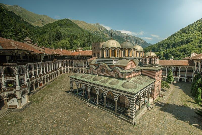 Rila Monastery. Mountain from Bulgaria stock photography