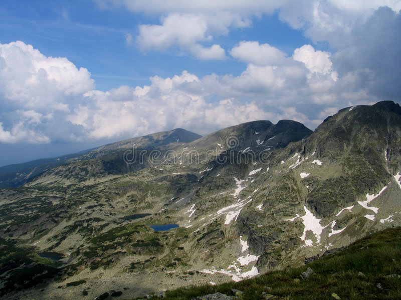 Rila mountain. Rila is a mountain in southwestern Bulgaria and the highest mountain of Bulgaria and the Balkans, with its highest peak being Musala at 2,925 m royalty free stock photography