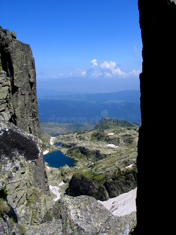 Rila mountain. Rila is a mountain in southwestern Bulgaria and the highest mountain of Bulgaria and the Balkans, with its highest peak being Musala at 2,925 m royalty free stock photo