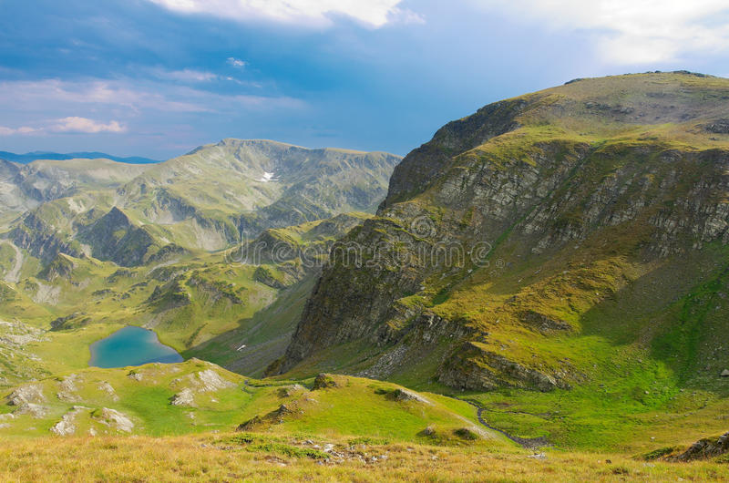 Rila mountain. Landscape with mountains and lake royalty free stock image