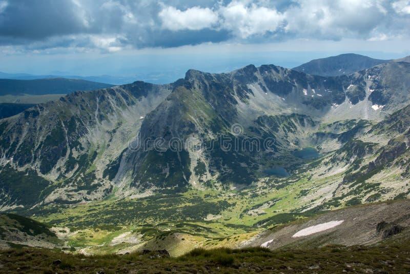 Rila Mountain, Marichini Lakes View from Musala Peak. Bulgaria stock photo