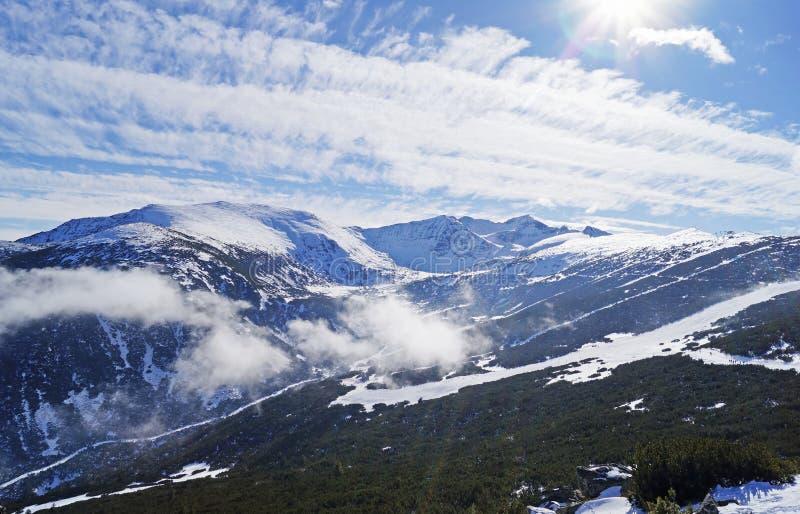 Rila mountain. Musala peak at Rila mountain in winter season royalty free stock photo