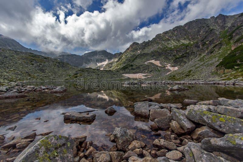 Rila Mountain, Musalenski Lakes. And Musala Peak, Bulgaria stock photos