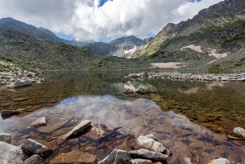 Rila Mountain, Musalenski Lakes. And Musala Peak, Bulgaria royalty free stock photography