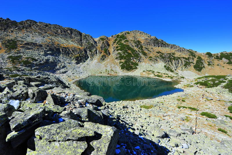Rila mountains in Bulgaria - glacial lake royalty free stock image
