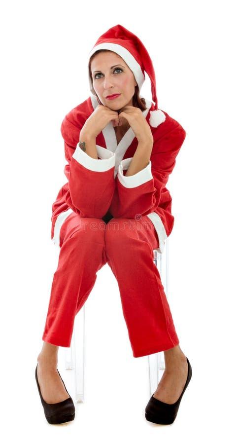 Rilassamento del Babbo Natale fotografie stock libere da diritti