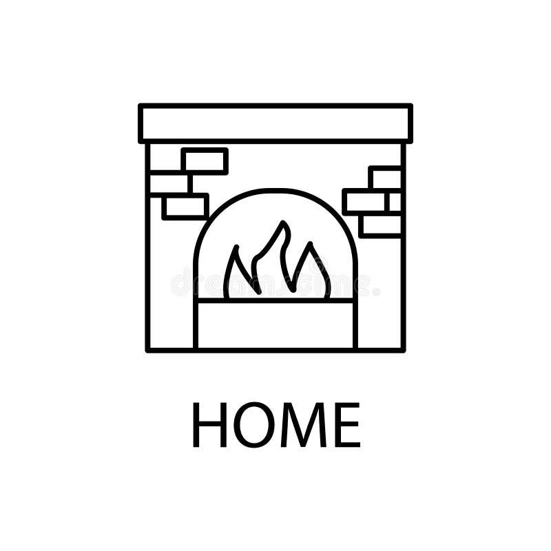 rilassamento nell'icona del camino Elemento dell'icona di ricreazione per i apps mobili di web e di concetto Linea sottile rilass royalty illustrazione gratis