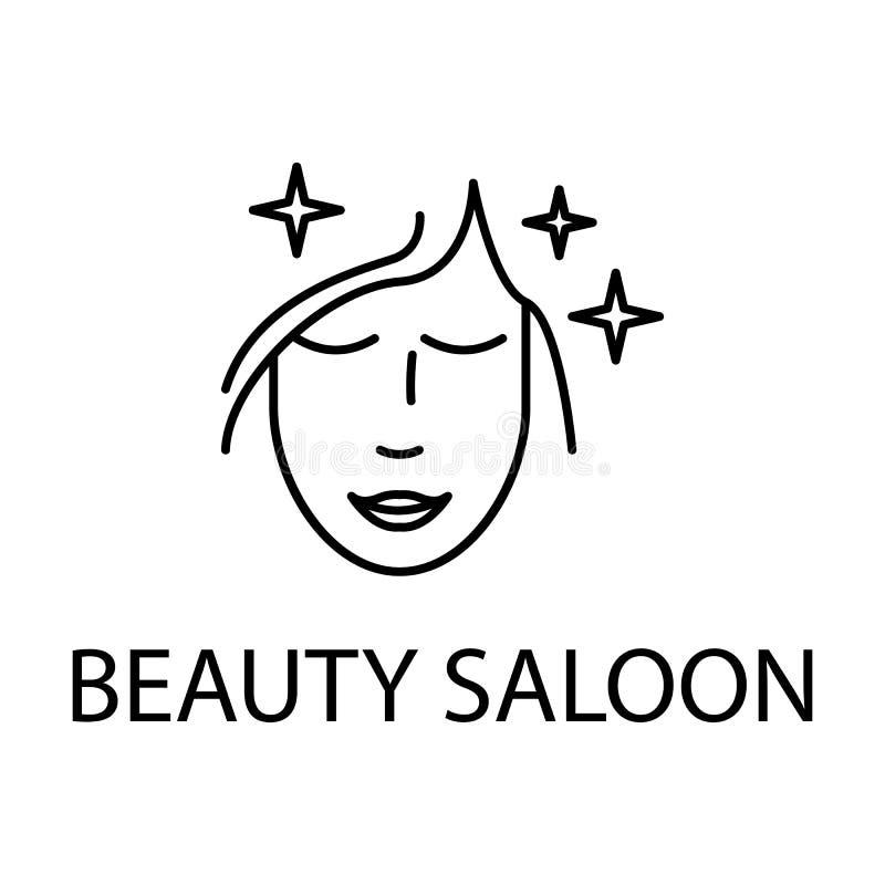 rilassamento nell'icona del salone di bellezza Elemento dell'icona di ricreazione per i apps mobili di web e di concetto Linea so royalty illustrazione gratis