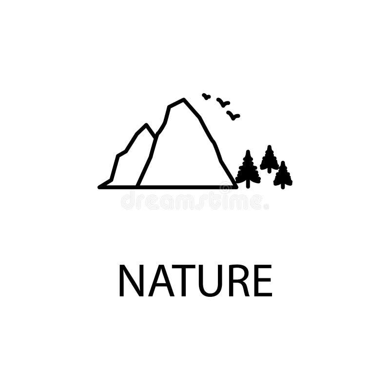 rilassamento nell'icona della natura Elemento dell'icona di ricreazione per i apps mobili di web e di concetto La linea sottile r illustrazione di stock