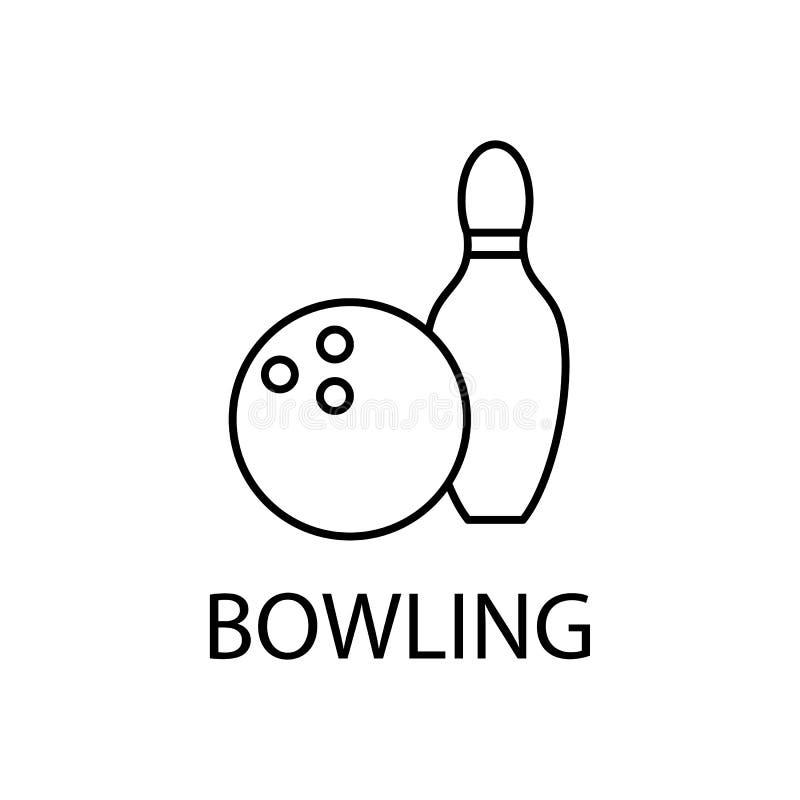 rilassamento nell'icona di bowling Elemento dell'icona di ricreazione per i apps mobili di web e di concetto La linea sottile ril illustrazione di stock