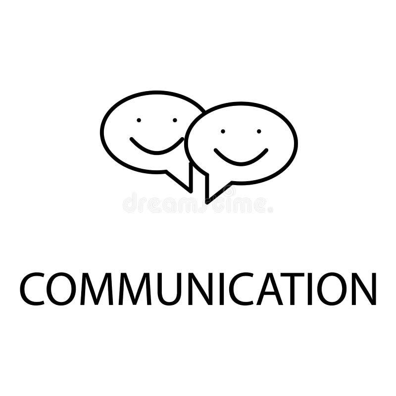 rilassamento nell'icona di comunicazione Elemento dell'icona di ricreazione per i apps mobili di web e di concetto Linea sottile  royalty illustrazione gratis