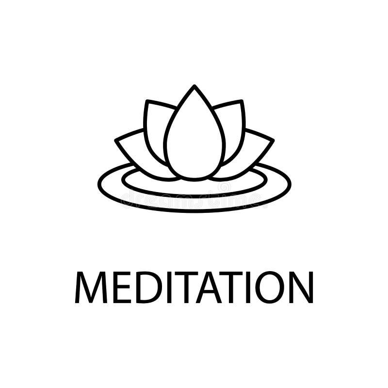 rilassamento nell'icona di meditazione Elemento dell'icona di ricreazione per i apps mobili di web e di concetto Linea sottile ri royalty illustrazione gratis