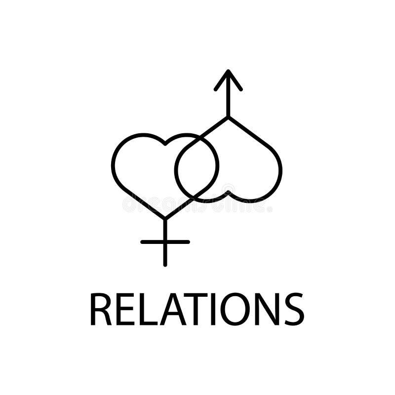 rilassamento nell'icona di relazioni Elemento dell'icona di ricreazione per i apps mobili di web e di concetto Linea sottile rila illustrazione vettoriale