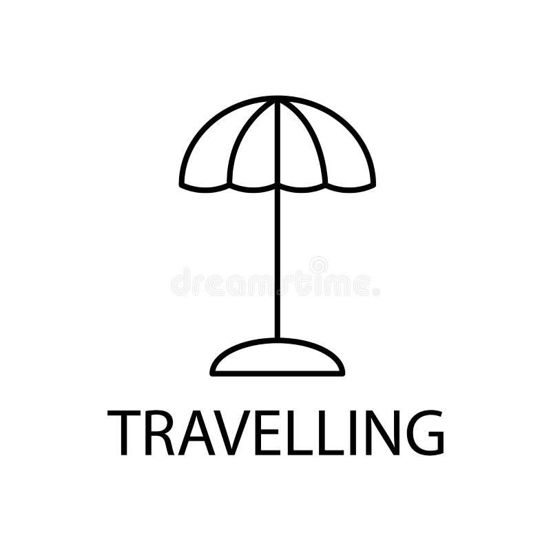 rilassamento nell'icona di viaggio Elemento dell'icona di ricreazione per i apps mobili di web e di concetto Linea sottile rilass illustrazione di stock