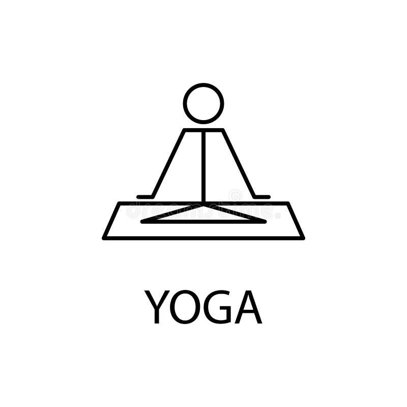rilassamento nell'icona di yoga Elemento dell'icona di ricreazione per i apps mobili di web e di concetto La linea sottile rilass royalty illustrazione gratis