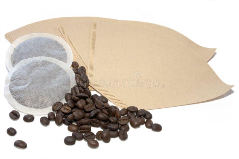 Rilievi di Coffe, fagioli dei ands del filtro immagine stock