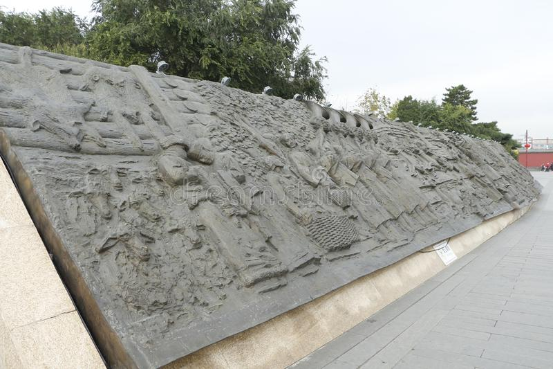 Rilievo вне музея дворца Шэньяна, Китая стоковые фотографии rf