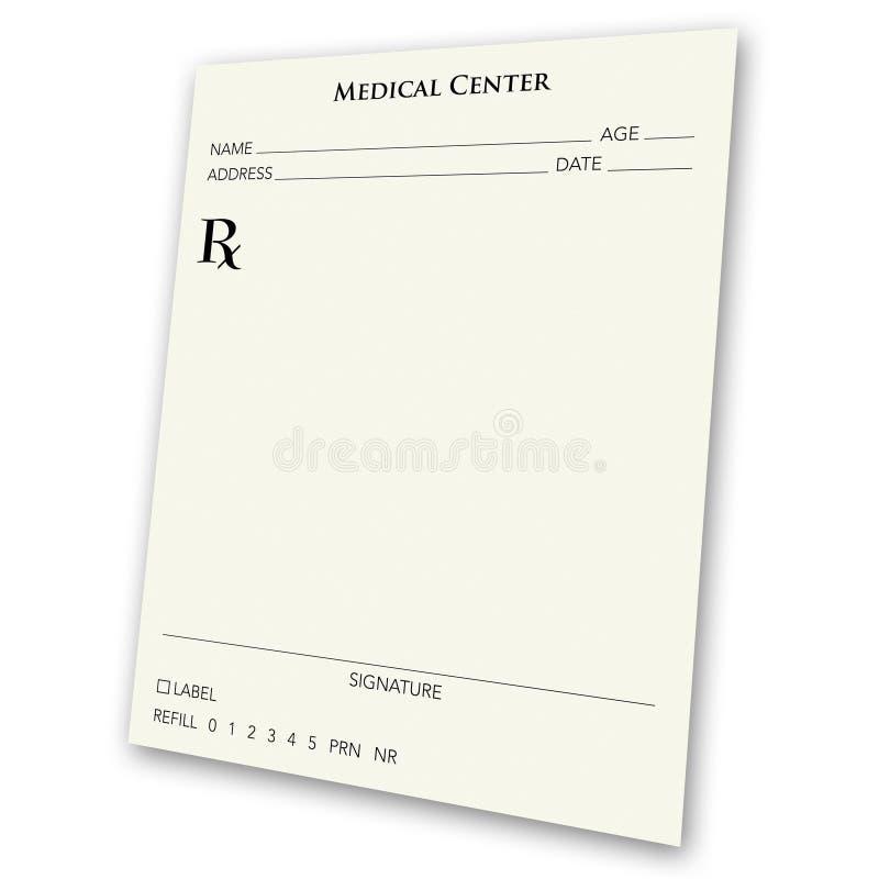 Rilievo in bianco di prescrizione