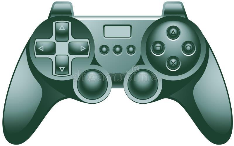 Rilievo del regolatore del video gioco illustrazione vettoriale