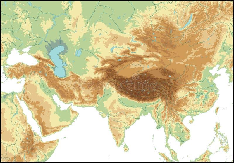 Rilievo dell'Asia centrale.