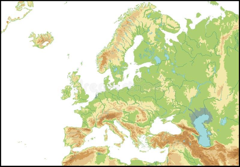 Cartina Muta Europa Centrale.Mappa Di Europa Nord Africa E Di Medio Oriente Carta In Rilievo Illustrazione Di Stock Illustrazione Di Algeria Giappone 57164458
