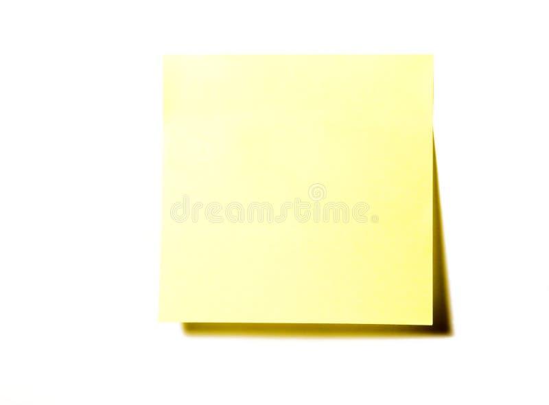 Rilievo di nota giallo fotografia stock libera da diritti