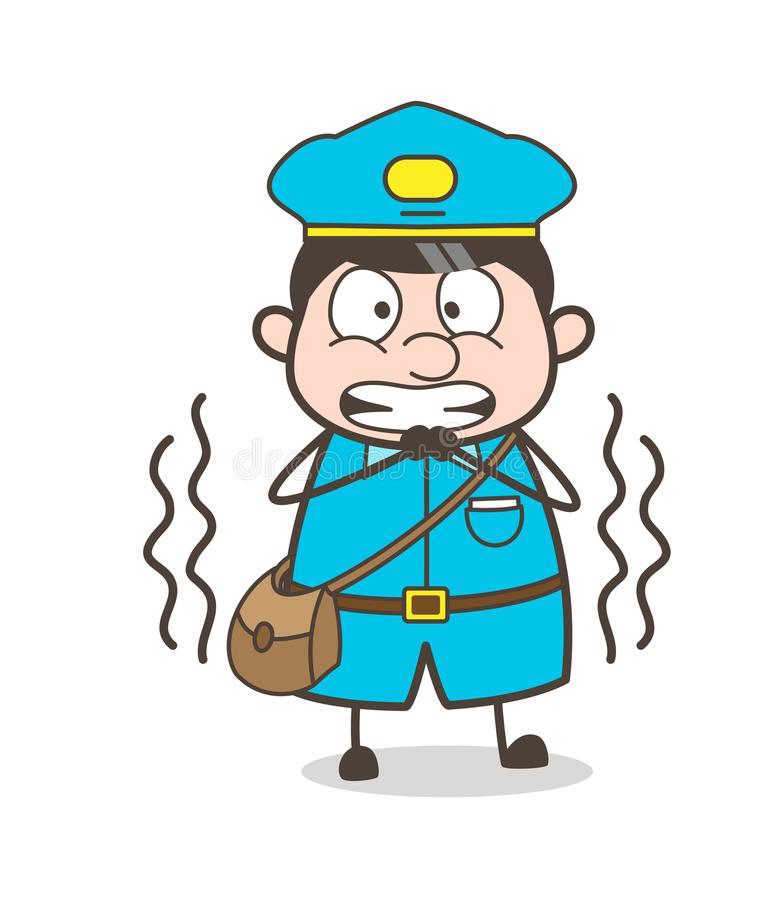 Rillende Postboy in Vreesvector vector illustratie