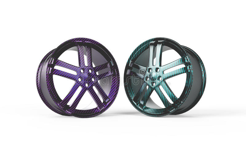 Rim 3d rendering carbon fiber stock image