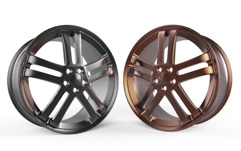 Rim 3d rendering carbon fiber stock images