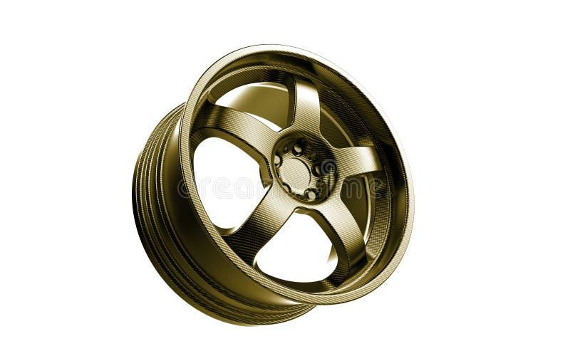 Rim 3d rendering carbon fiber royalty free stock photography