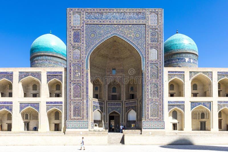 RIM-eu-árabe Madrasah Miri Arab Madrasah em Bukhara, Usbequistão fotografia de stock