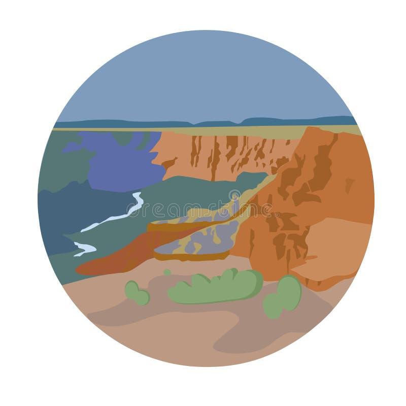 Rim Grand Canyon Cape Royal del nord royalty illustrazione gratis