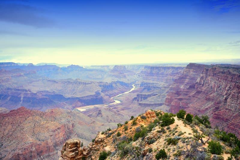 Rim Grand Canyon sul, o Arizona, E.U. fotos de stock