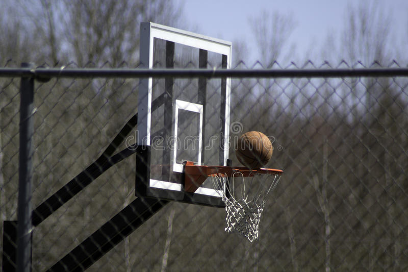 Download On the Rim stock image. Image of fence, outside, basketball - 91250547