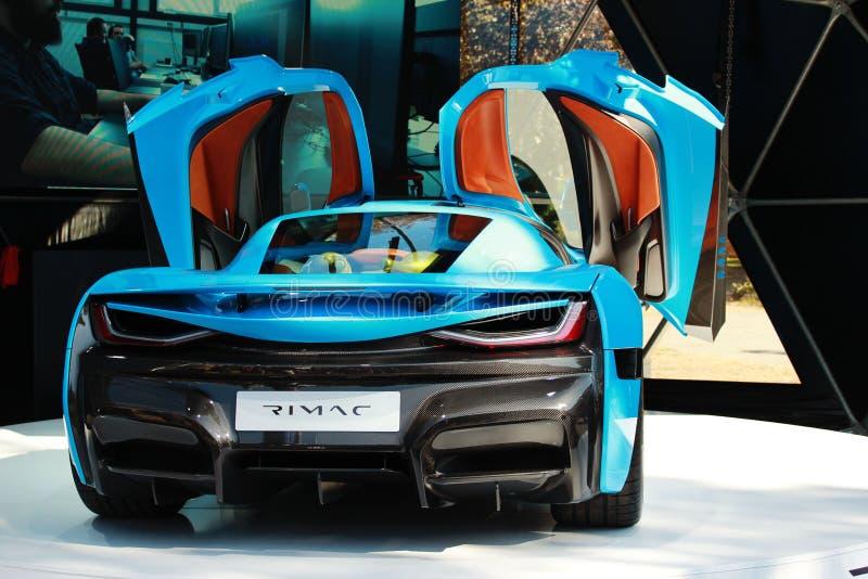 Rimacctwo elektrische auto royalty-vrije stock foto