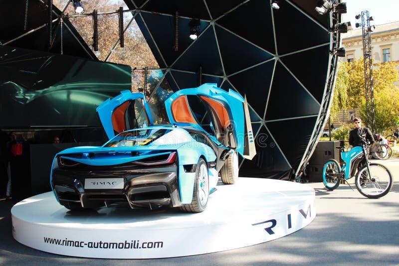 Rimacctwo elektrische auto royalty-vrije stock afbeeldingen
