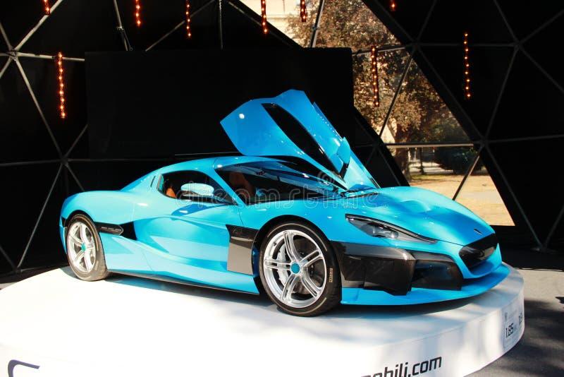 Rimacctwo elektrische auto royalty-vrije stock afbeelding
