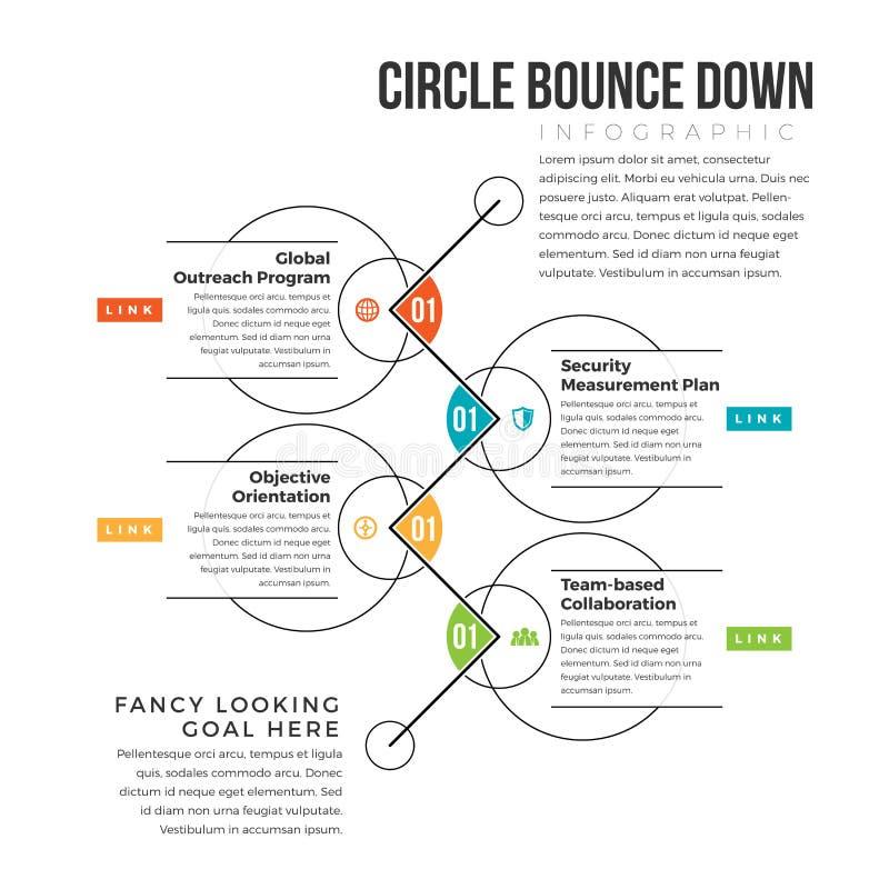 Rimbalzo del cerchio giù illustrazione vettoriale